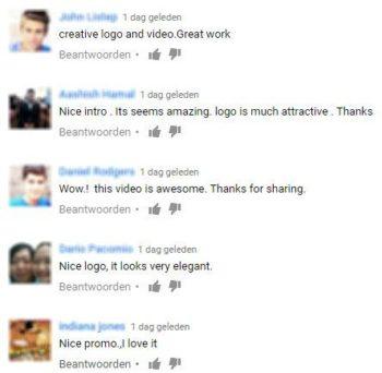 reacties youtube video