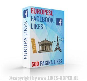 europese facebook likes