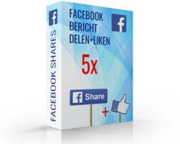 facebook bericht liken en delen