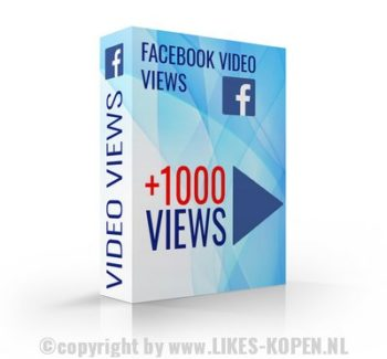 facebook video views kopen