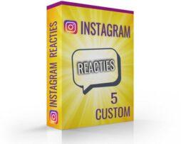 reacties kopen instagram custom