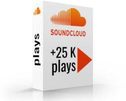 soundcloud plays 25k
