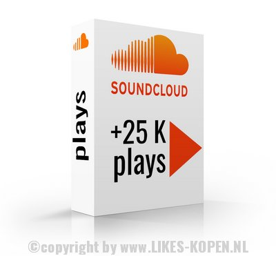 soundcloud plays 25k