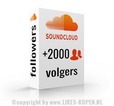 2000 nieuwe soundcloud abonnees