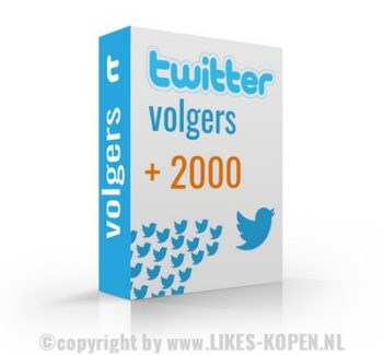 twitter volgers kopen 2000