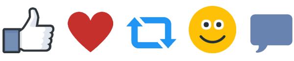 volgers en likes iconen