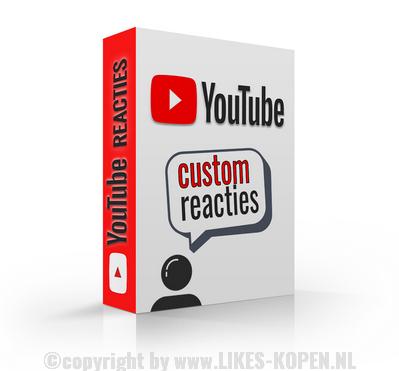Youtube custom reacties kopen