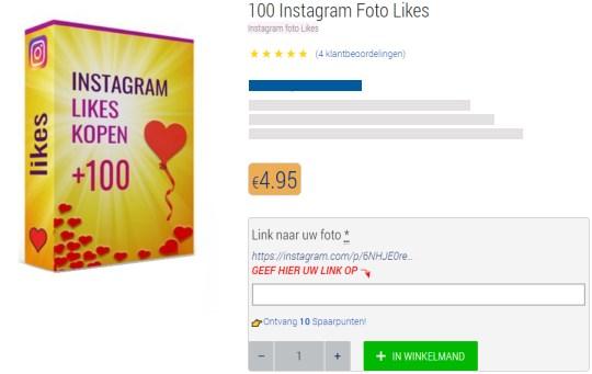 foto likes voor instagram bestellen