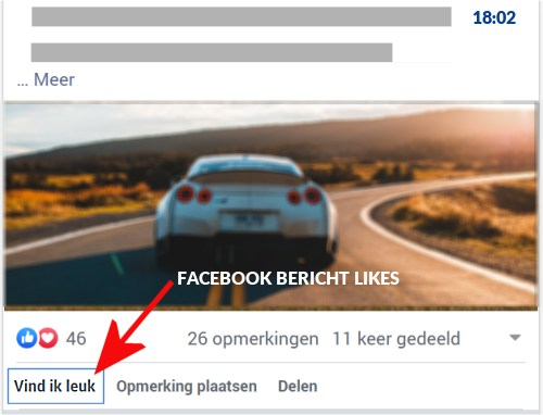 facebook post laten liken